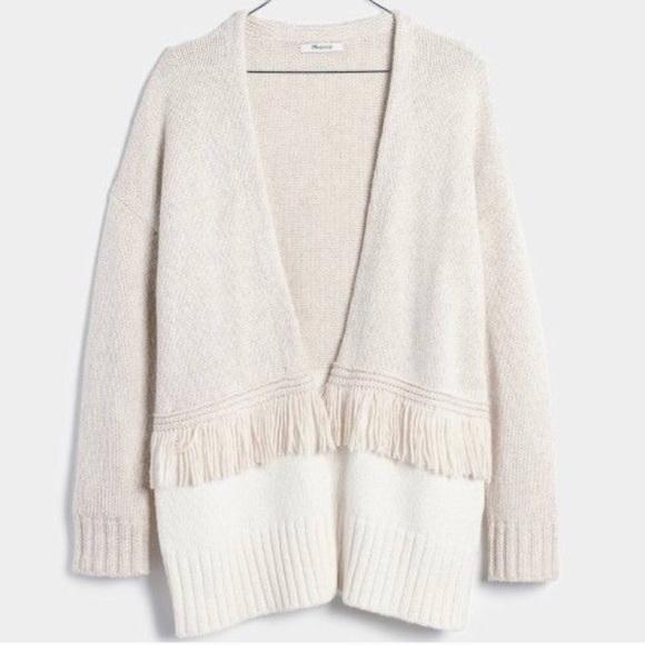 Madewell Sweaters - Madewell colorblock fringe cardigan